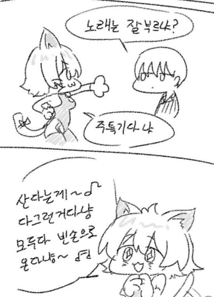 고양이 수인 미소녀가 아이돌 하려는 만화  No.1