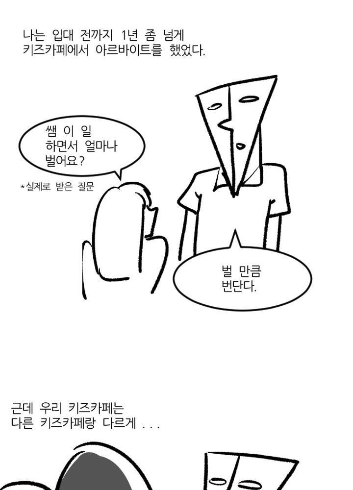 키즈 카페 알바하다가 x될뻔한 썰 만화 No.0