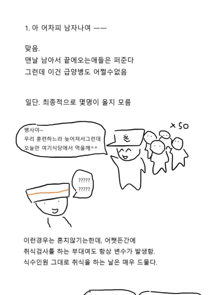 급양병 만화 2 - 정량배식에 대하여 No.1
