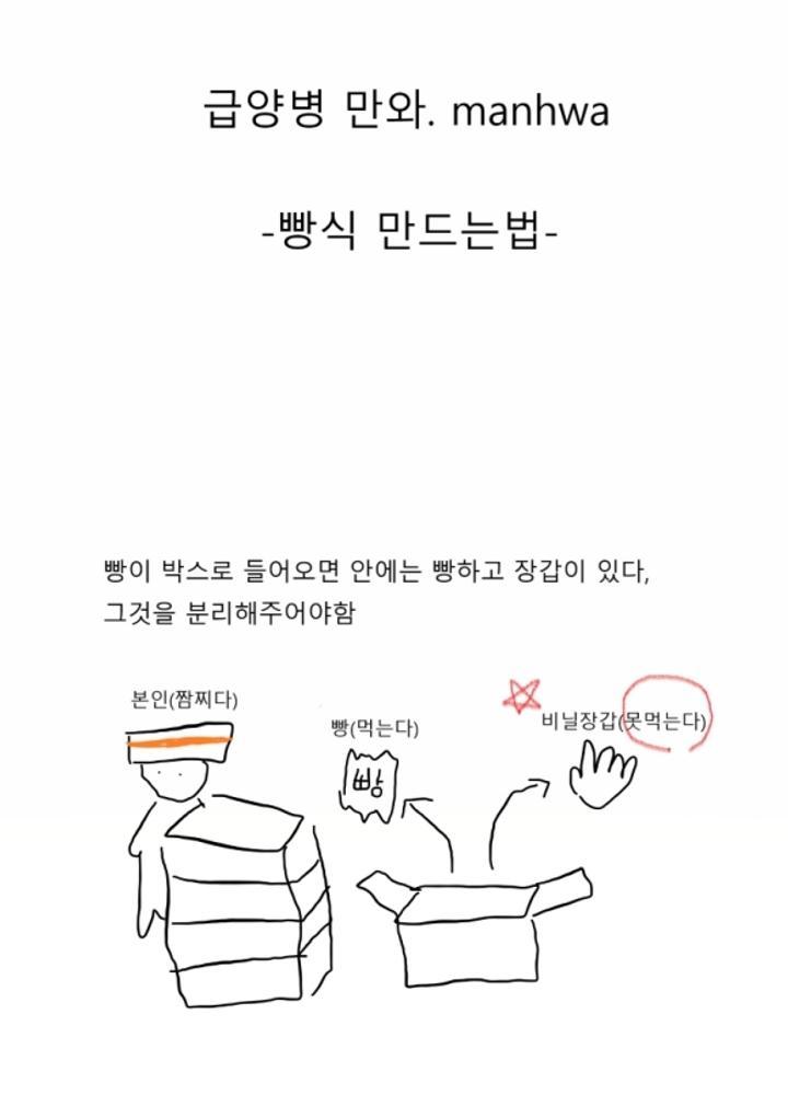 급양병 만화 1 - 빵식 만들기 No.0
