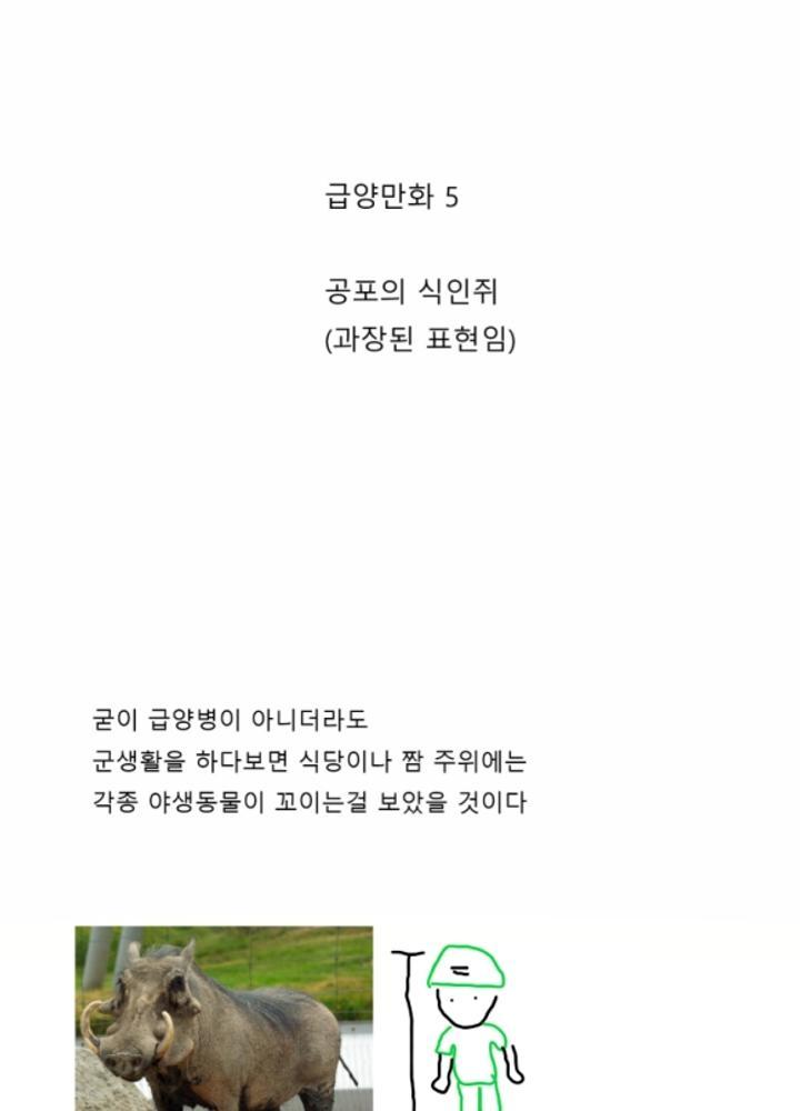 급양병 만화 5 - 공포의 식인쥐 No.0